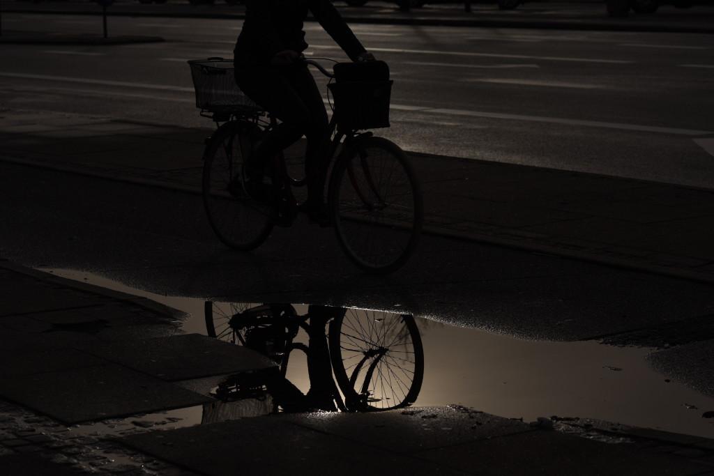 Cykelist i genskin